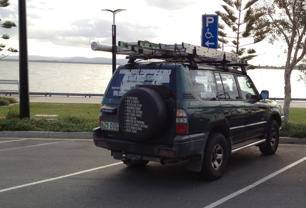 My old Woody Point Communications work vehicle
