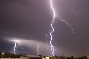 Lightning can damage electronic equipment!