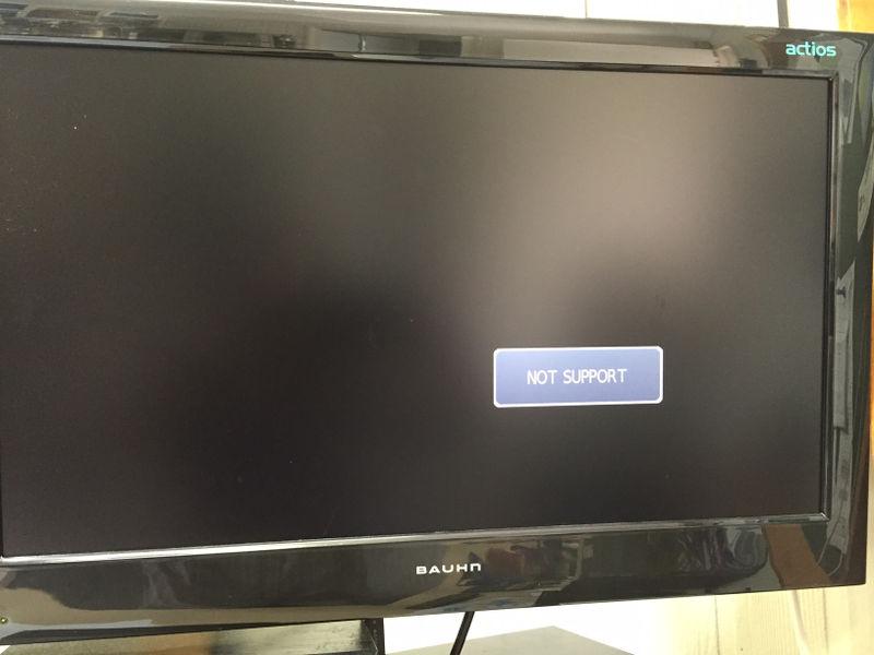 """Not Support"" error on a Braun Digital TV"