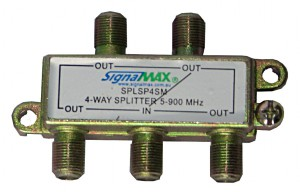 SignalMAX 4 Way Splitter